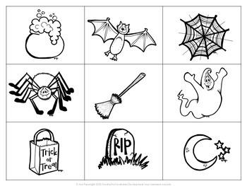 Halloween Bingo B/W only