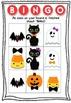 Halloween Bingo Board with cards