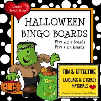 Halloween Bingo Boards