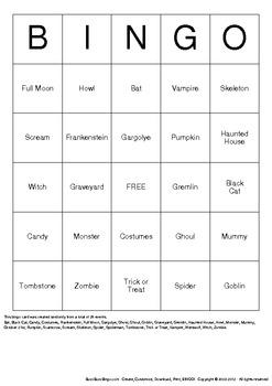 Halloween Bingo Cards - 50 Unique Pages