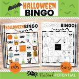 Halloween Bingo Cards   Color or B&W   Halloween Bingo Cla