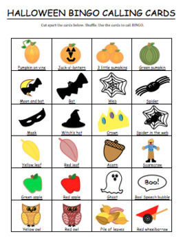 Halloween Activities--Bingo Cards--Printable! Great for Halloween Party!