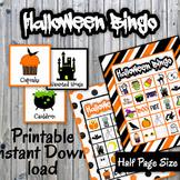 Halloween Bingo Cards and Memory Game - Printable - Up to 30 players