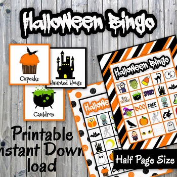 graphic regarding Halloween Bingo Printable referred to as Halloween Bingo Playing cards and Memory Activity - Printable - Up towards 30 avid gamers
