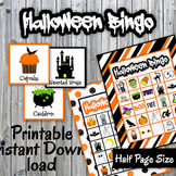 Halloween Bingo Cards and Memory Game - Printable - Up to