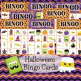 Halloween Bingo Cards with Fun Pictures for Classroom Parties