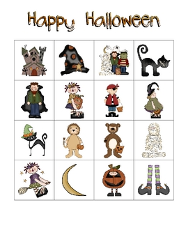 Halloween Bingo Class Set by Mrs. Kroeger's Kindergarten | TpT
