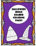 Halloween Bingo Dauber Coloring Pages