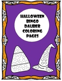 Halloween Bingo Dauber Coloring Pages