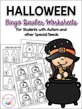 Halloween Bingo Dauber Worksheets
