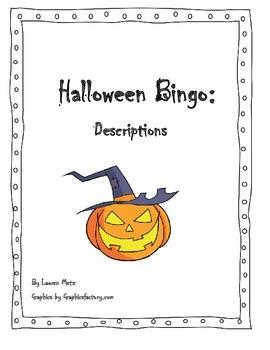 Halloween Bingo: Descriptions