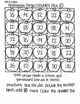 Halloween Bingo:  Doubles Plus
