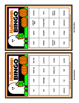 Halloween Bingo Fun! - Two levels of play for up to 30 players