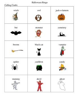 Halloween Bingo Game