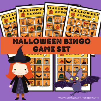 Halloween Bingo Game Set using Boardmaker Pictures