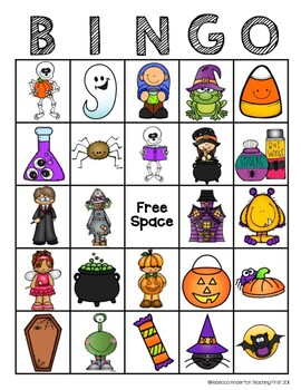 Halloween Bingo and Other Activities