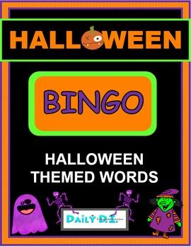 Halloween Bingo - Halloween themed words