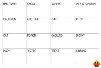 Halloween Bingo (Holiday Themed- 26 sheets with words)
