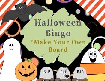 Halloween Bingo Make Your Own Board