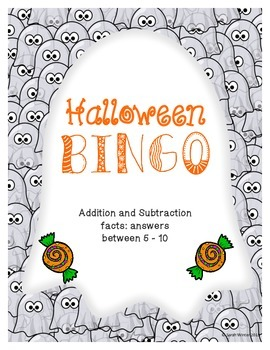 Halloween Bingo Math (add-subtract between 5-10)