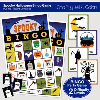 Halloween Bingo & Memory Game, Halloween Themed Bingo Game