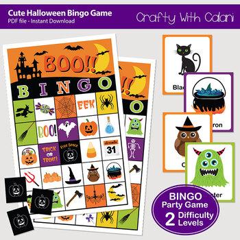 Halloween Bingo & Memory Game for Younger Children