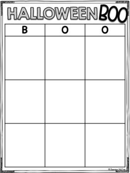 Halloween BOO (Mini Bingo Game)