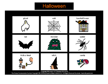 Halloween Bingo! Multiple Boards [speech therapy and autism]
