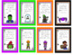 Halloween Bingo Party Game w/ Rhyming Riddles - 30 Different Cards - Inferencing