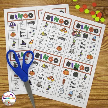 Halloween Bingo Powerpoint Game Kit