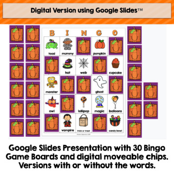 photo about Printable Halloween Bingo Cards called Halloween Bingo Printable and Electronic Products