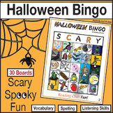Halloween Bingo (Regular Size - 30 Boards)