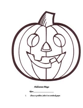 Halloween Bingo Review Activity