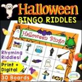 Halloween Bingo Riddles Game