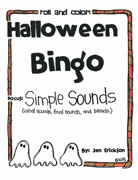 Halloween Bingo:  SImple Sounds