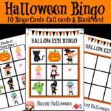 Halloween Bingo Set for Kindergarten & Preschool - Easy ESL Games