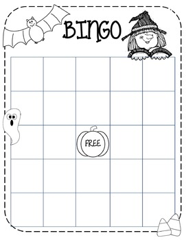 Halloween Bingo Sheet