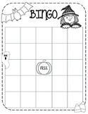 Halloween Bingo Sheet