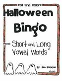 Halloween Bingo:  Short and Long Vowel Words