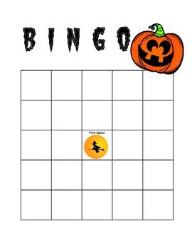 Halloween Bingo: Slope and Linear Equations