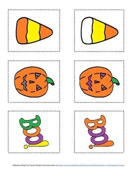 Halloween Bingo! Speech & Language Re-enforcement & Enrichment Activity