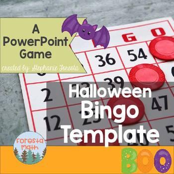 Halloween Bingo Template