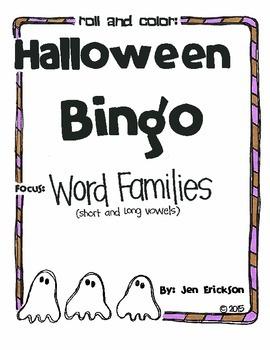 Halloween Bingo:  Word Families