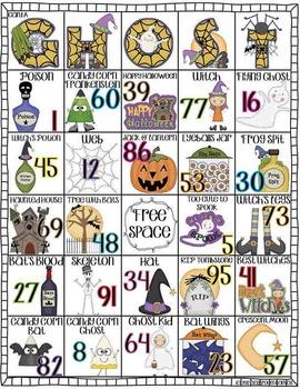 Halloween Bingo and Center Activity!