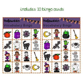 Halloween Bingo and WH Questions