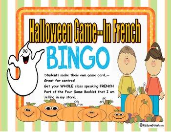 Halloween-Bingo in FRENCH !