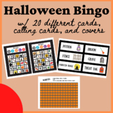 Halloween Bingo with 20 Different Cards, 30 Calling Cards