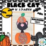 Halloween Black Cat in a Pumpkin Craft