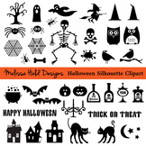 Halloween Black Silhouette Clipart