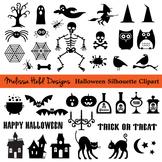 Halloween Black Silhouette Clipart